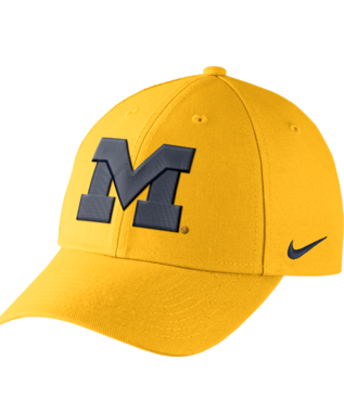 Michigan Wolverines Yellow Nike Dri-Fit Wool Classic Adjustable Hat