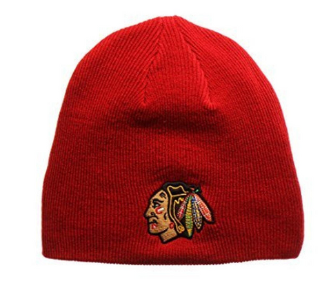 Chicago Blackhawks Red Edge Knit Hat By Top Of The World