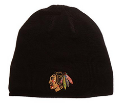Chicago Blackhawks Black Edge Knit Hat