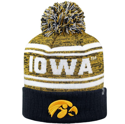 Iowa Hawkeyes Top of the World Driven Pom Knit