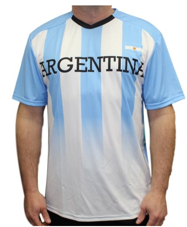Youth Team Argentina Federation Soccer Jersey Shirt Performance Tee