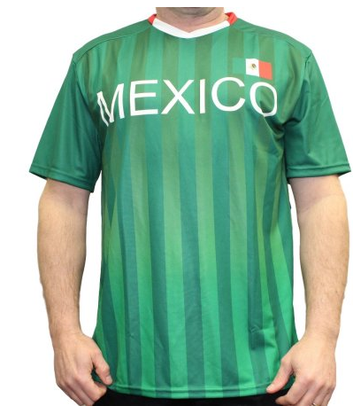 Men's Team Mexico Federation Soccer Jersey Shirt Performance Tee