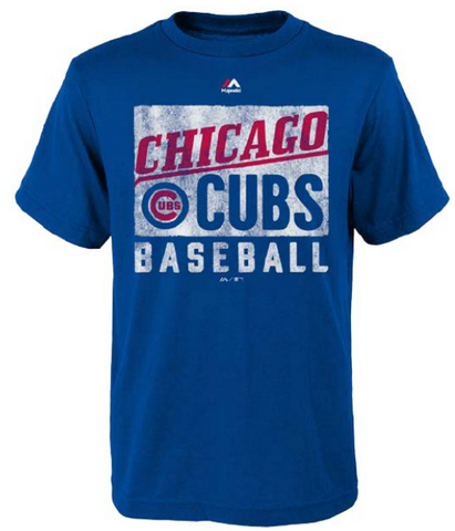 Child's Chicago Cubs Royal Out Of The Box Tee By Majestic