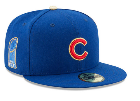 New Era Chicago Cubs 2016 World Series Champions 2017 On Field Gold Patch 59FIFTY Fitted Cap