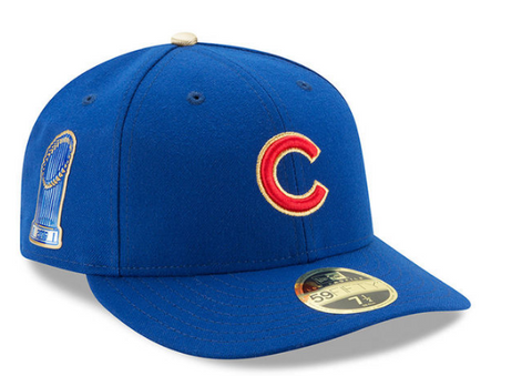 New Era Chicago Cubs 2016 World Series Champions 2017 On Field Gold Patch Low Profile 59FIFTY Fitted Cap