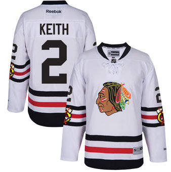 Youth Duncan Keith Chicago Blackhawks White 2017 Winter Classic Premier Replica Jersey