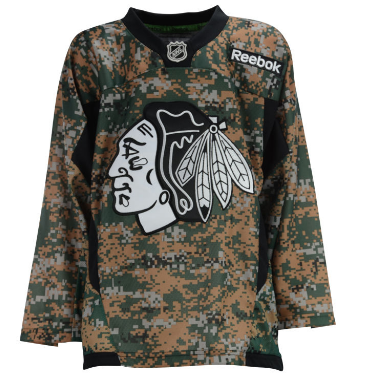 Chicago Blackhawks Youth Forest Camo Practice Replica Jersey