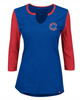Women's Chicago Cubs Royal/Red Above Average 3/4-Sleeve Raglan T-Shirt
