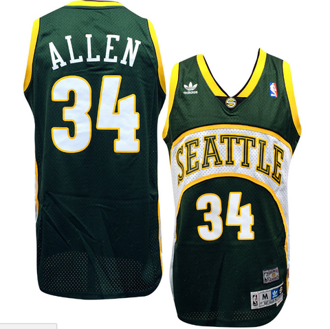 Seattle Supersonics Ray Allen Soul Adidas Swingman Jersey