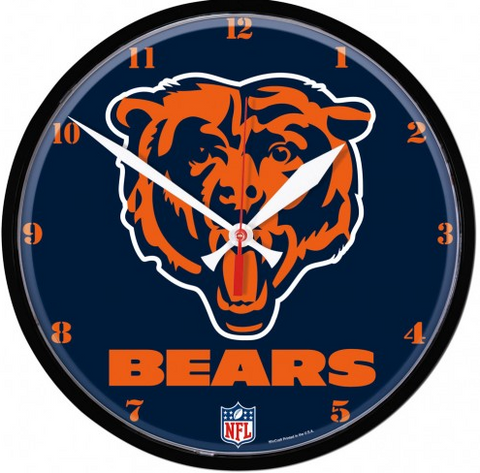 Chicago Bears Logo Clock By Wincraft