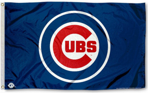 Chicago Cubs 3X5 Bullseye Logo Flag By Rico