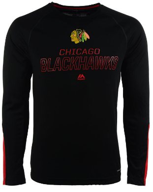 Chicago Blackhawks Cool Base Cutting Through Long Sleeve Tee