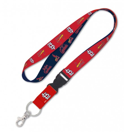 St. Louis Cardinals Double Sided Lanyard With Detachable Buckle By Wincraft