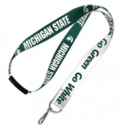Michigan State Spartans Double Sided Lanyard With Detachable Buckle By Wincraft