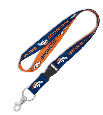 Denver Broncos Double Sided Lanyard With Detachable Buckle By Wincraft