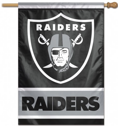 Oakland Raiders 28X40 Vertical Flag By Wincraft