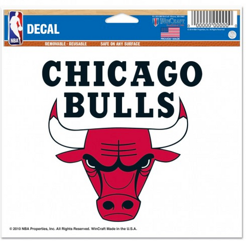 Chicago Bulls 5X6 Multi Use Decal By Wincraft