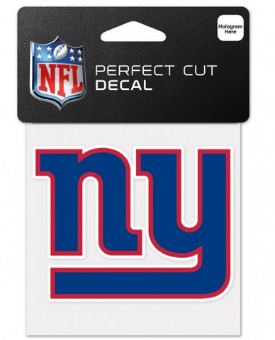 New York Giants 4X4 Perfect Cut Decal By Wincraft