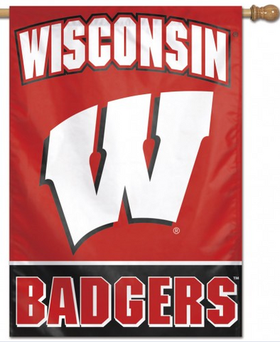 Wsconsin Badgers Vertical Flag 28x40