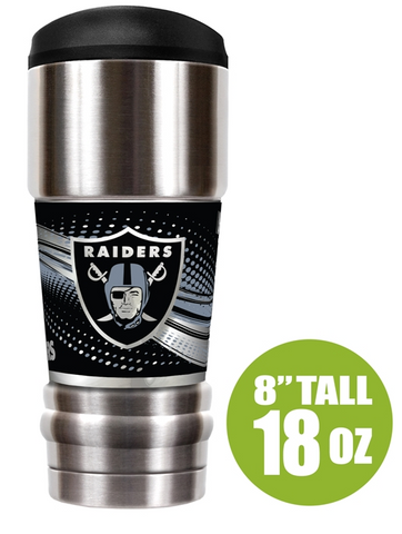 "Oakland Raiders ""The MVP"" 18 oz Vacuum Insulated Stainless Steel Tumbler"