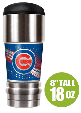 "Chicago Cubs ""The MVP"" 18 oz Vacuum Insulated Stainless Steel Tumbler"