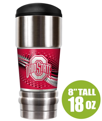 "Ohio State Buckeyes ""The MVP"" 18 oz Vacuum Insulated Stainless Steel Tumbler"