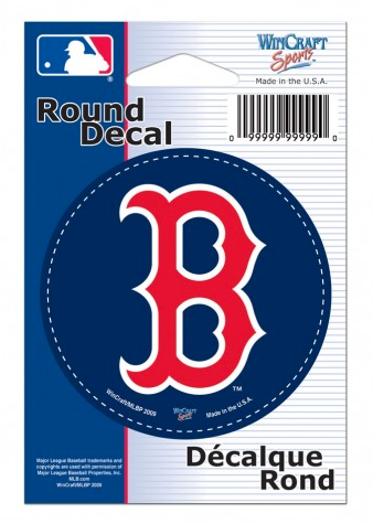 Boston Red Sox 3 Inch Round Decal By Wincraft