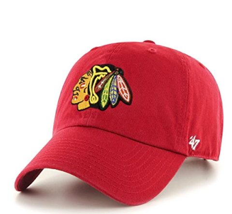 '47 Brand Chicago Blackhawks Red Clean Up Adjustable Hat