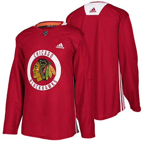 Chicago Blackhawks adidas Authentic Red Practice Jersey