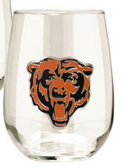 Chicago Bears 15oz. Stemless Wine Glass