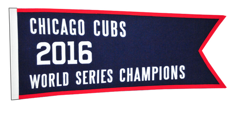 "Chicago Cubs 2016 Champions 28"" x 12"" Traditions Banner"