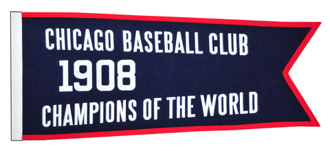 "Chicago Cubs 1908 Champions 28"" x 12"" Traditions Banner"