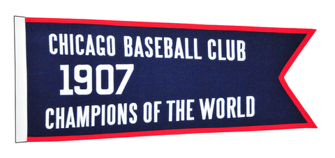 "Chicago Cubs 1907 Champions 28"" x 12"" Traditions Banner"