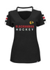 Women's Chicago Blackhawks Goal Cage Tee By Majestic