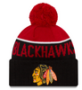 Chicago Blackhawks Red Cuff Knit With Pom