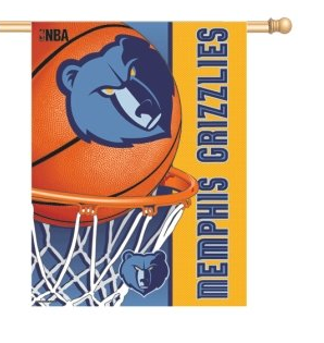 Memphis Grizzlies Vertical Flag By Wincraft