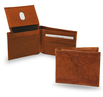 Chicago White Sox Brown Leather Bi-Fold Wallet