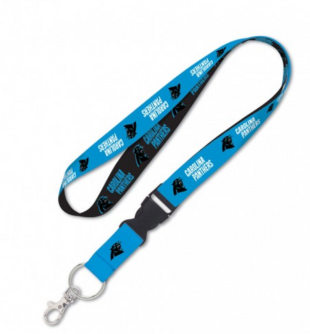 Carolina Panthers Double Sided Lanyard With Detachable Buckle By Wincraft