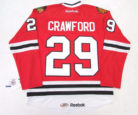 Corey Crawford Rockford Icehogs Premier Replica Red Jersey