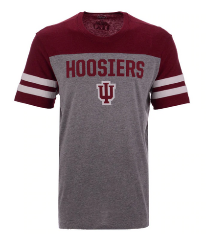 Men's Indiana Hoosiers Versus Tri-Colored Tee By '47 Brand