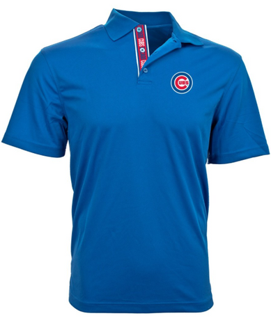 Men's Chicago Cubs Repeat Omaha Royal Blue Level Wear Polo