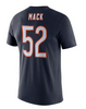 Men's Chicago Bears Khalil Mack 100th Anniversary Nike Navy Player Pride Name & Number Performance T-Shirt