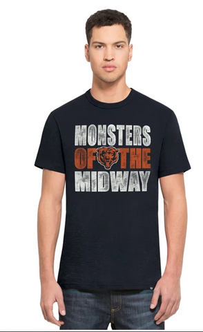 Men's Chicago Bears Monsters Of The Midway Scrum Tee By '47 Brand