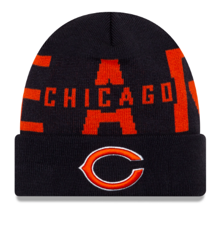 Chicago Bears New Era Bold Official Logo Sport Knit Hat