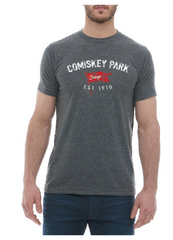 Men's Comiskey Park Brushcraft Est. Flag Short Sleeve Tee-Heather/Charcoal