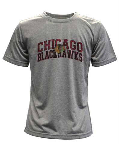 Youth Chicago Blackhawks Performance Arch Tee By Levelwear