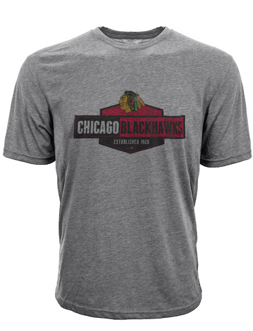 Mens Chicago Blackhawks Waypoint Tee By Levelwear