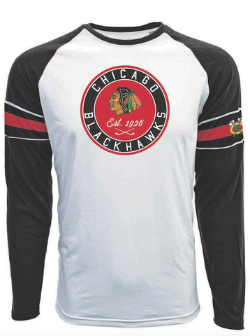 Chicago Blackhawks Faceoff Circle Long Sleeve Tee By Levelwear