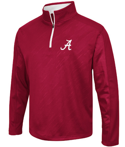Alabama Crimson Tide Performance Fleece 1/4 Zip Track Jacket By Colosseum Athletics