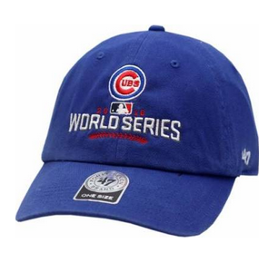 Chicago Cubs Adult Royal 2016 World Series Clean Up Adjustable Hat, Royal-47 Brand
